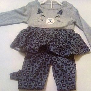 NWT Pants Set Girl's Size 12 Mo. Carters
